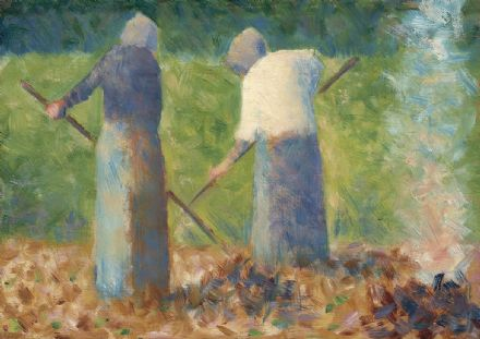 Seurat, Georges Pierre: Haymakers at Montfermeil. Fine Art Print/Poster. Sizes: A4/A3/A2/A1 (004042)
